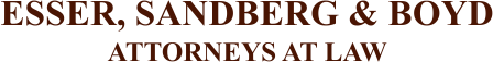 Esser, Sandberg & Boyd Attorneys at Law Logo